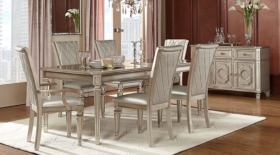 Belle Terra Silver 5 Pc Dining Room From Furniture Glamourous