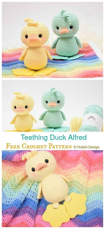 Amigurumi Duck Free Crochet Patterns Háčkování, Miminko