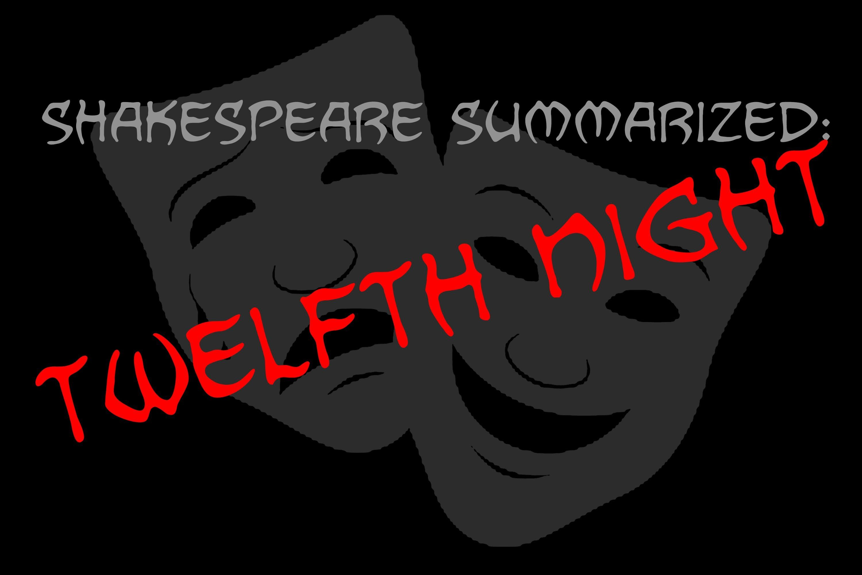Shakespeare Summarized Twelfth Night With Images