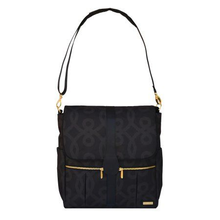 JJ Cole Backpack Diaper Bag - Black & Gold