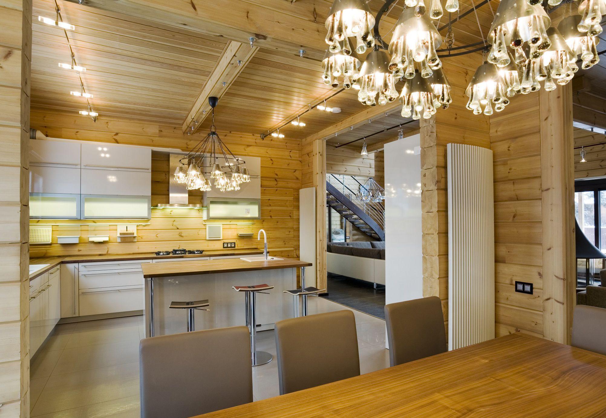 Design d\'une maison en bois moderne du style scandinave contruite ...