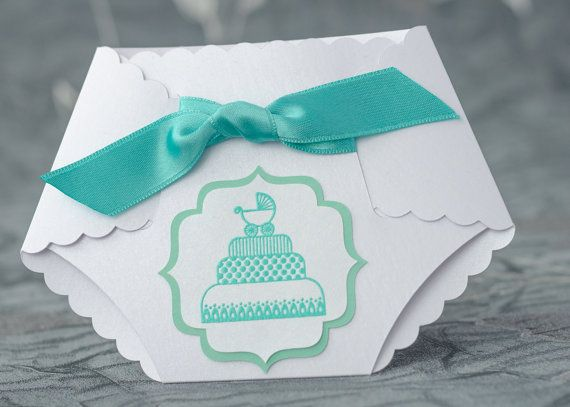 Turquoise Baby Shower Diaper Invitation, Diaper Invitation, Diaper - diaper invitation