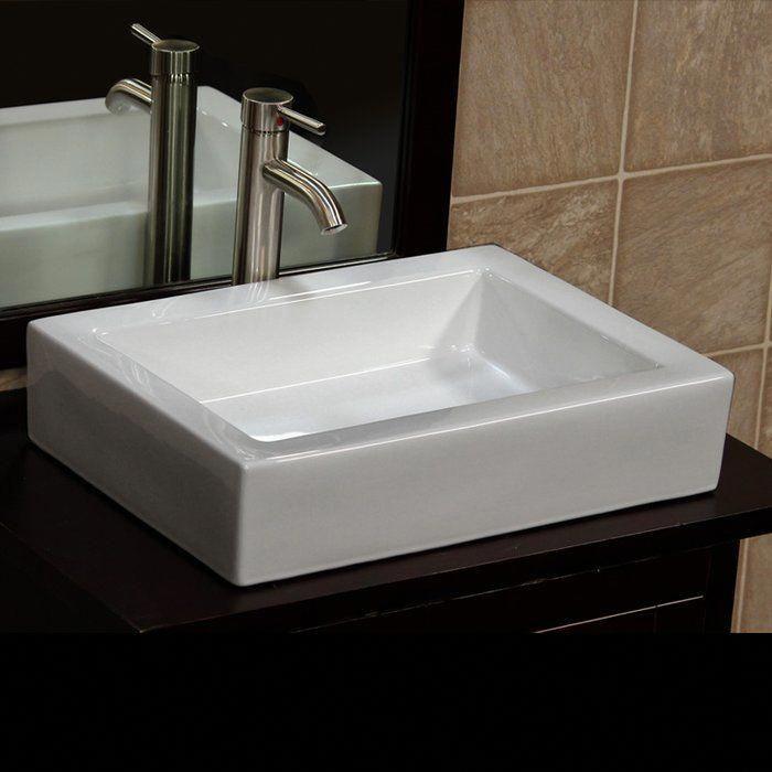 Ceramic Rectangular Vessel Bathroom Sink Home Improvement Tricks