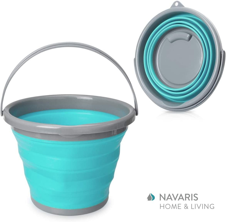 Navaris Faltschussel Waschschussel Spulschussel Mit Abfluss 10l Schussel Fur Camping Oder Kuche In 2020 Putzeimer Waschschussel Reinigen