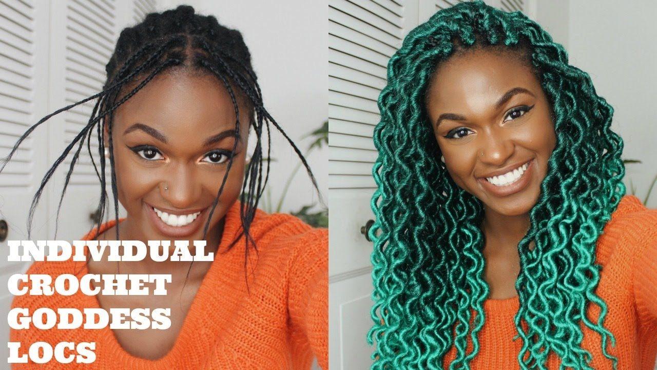 individual crochet goddess locs tutorial (free part/no