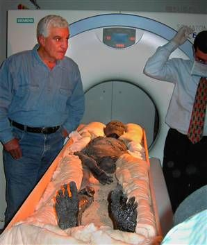 King Tut's Mummy on the Tomographic tests.