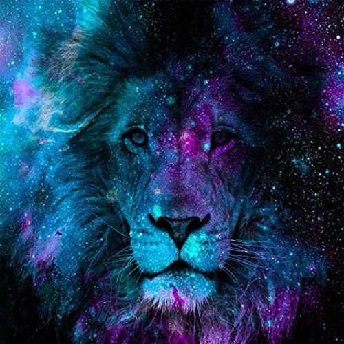Pioenfly Galaxy Starry Space Lion Painting Home Decorative Fashion Canvas Wall Art 12x 12 Details Can Be Found Lion Painting Canvas Picture Frames Lion Art