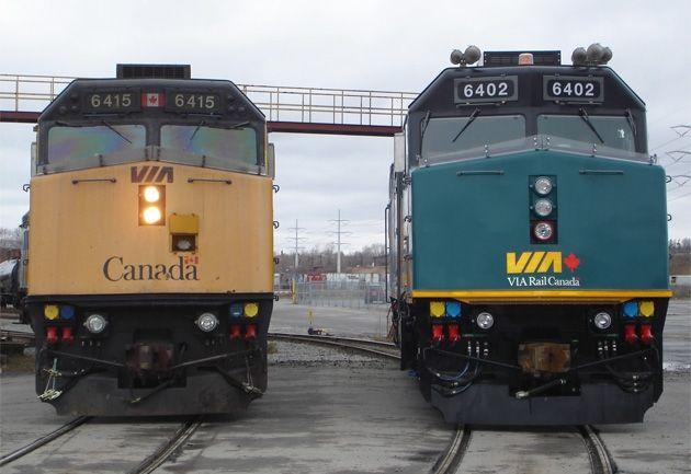 From Via Rail F40 Locomotive Overhaul Image Gallery