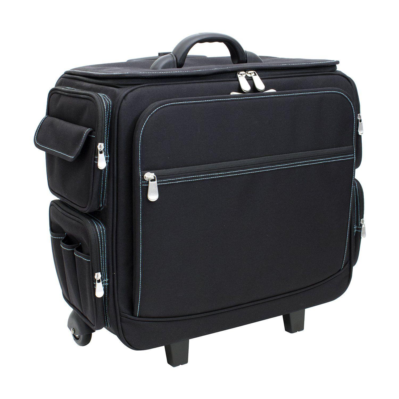 Deluxe Rolling Teacher Storage Tote Balck W Green Trim Tote Storage Teacher Storage Rolling Bags For Teachers