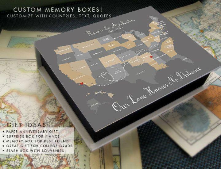 Anniversary box for boyfriend ~ Long distance surprise box valentine gift paper anniversary