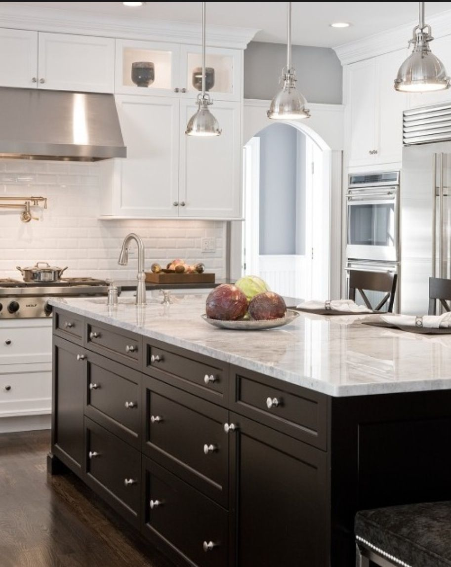 Cuisine Moderne Noir Et Blanc Counters Dream Kitchen Pinterest Maison Decoration And Armoire