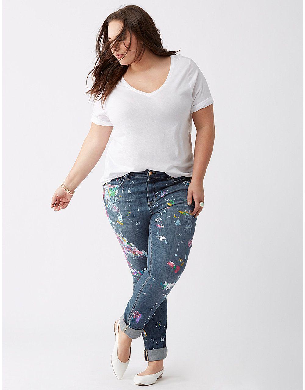 9822afd17f2 Splatter Skinny Jean by Melissa McCarthy Seven7