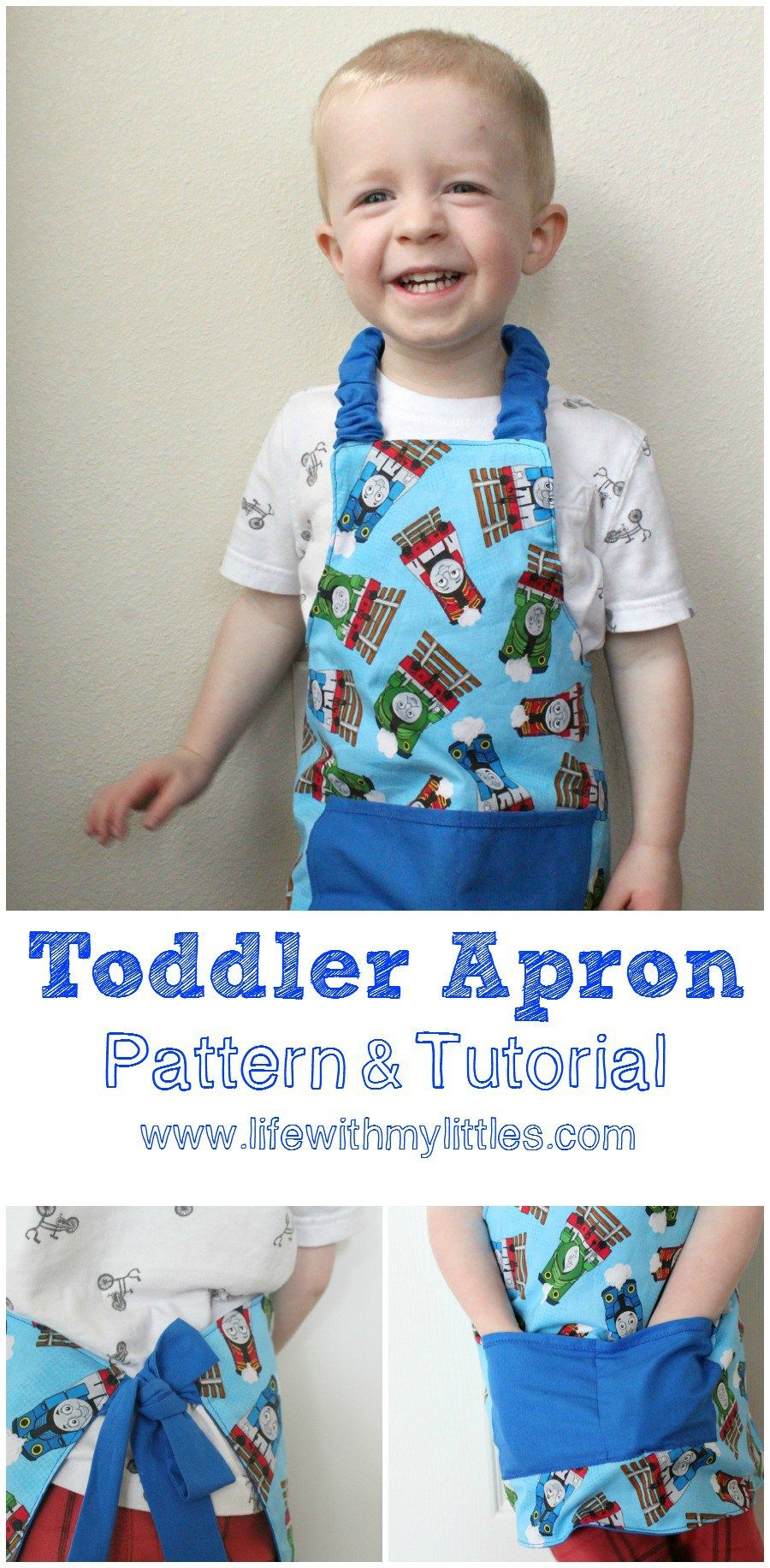 Easy Toddler Apron Pattern and Tutorial | Kindersachen, Nähprojekte ...