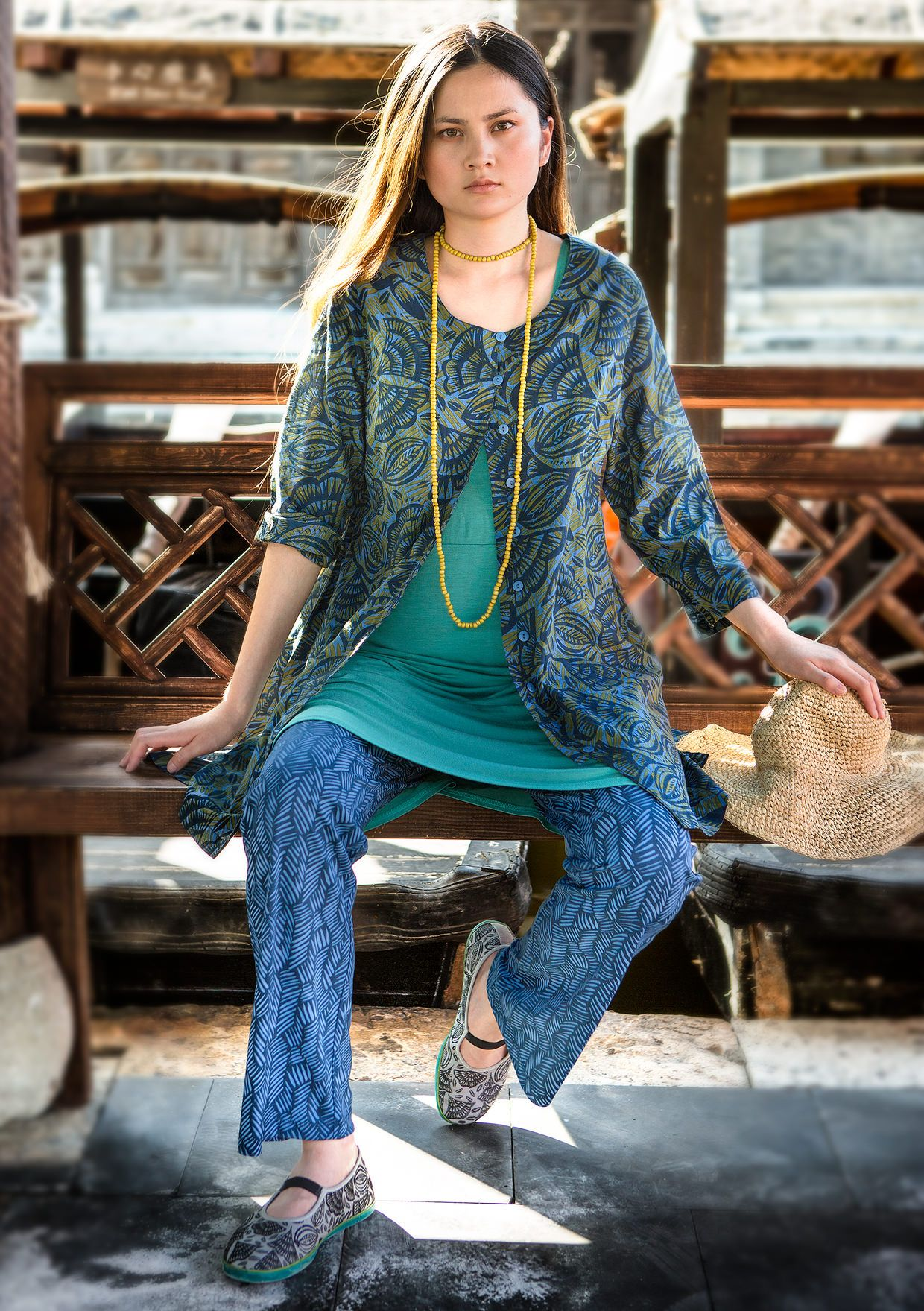 """""""Ibis"""" tunic in cotton voile – Organic jersey – GUDRUN SJÖDÉN – Webshop, mail order and boutiques 