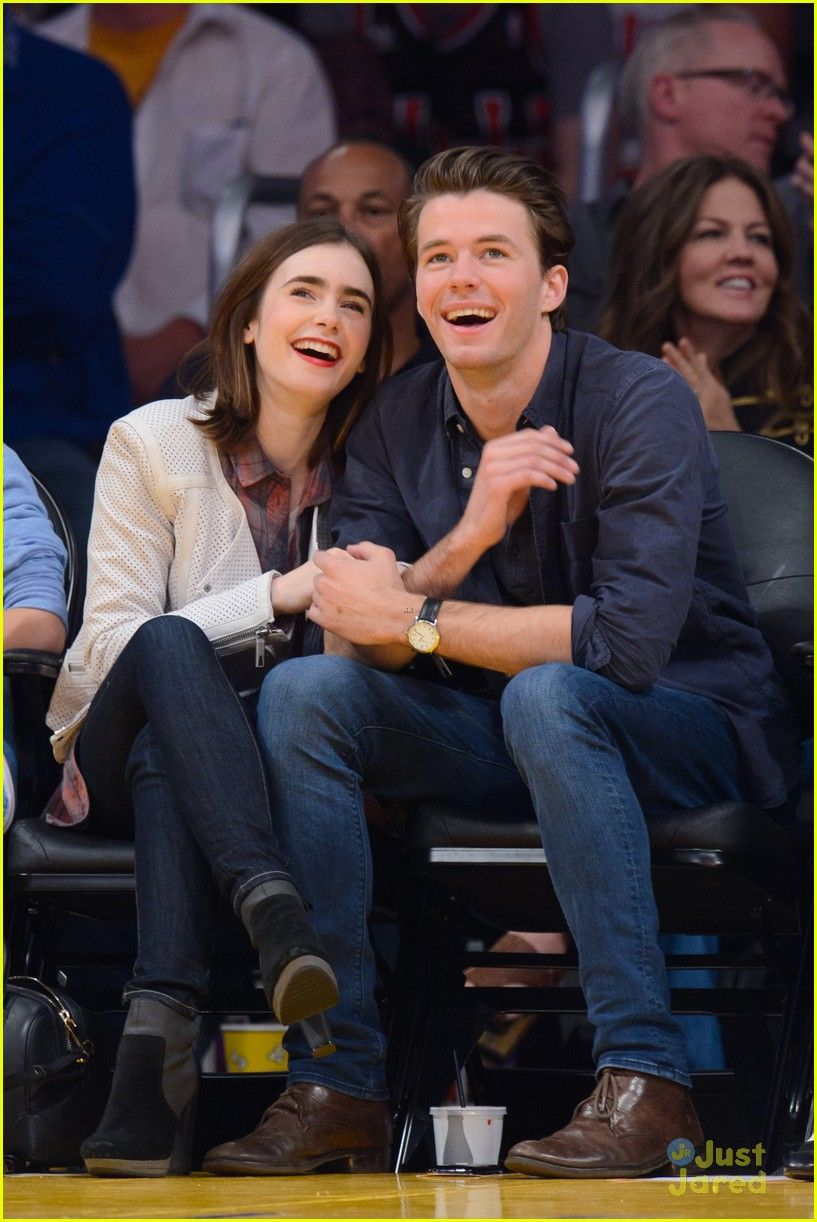 Bethany Joy Lenz Boyfriend Minimalist lily collins attended the los angeles lakers game with boyfriend