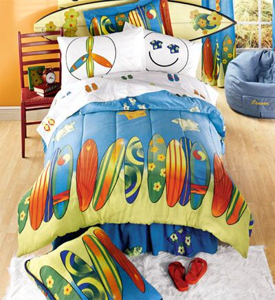 Boys Surf Bedding Reversible Bed Bag Full Double Size