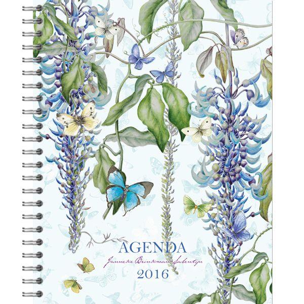 Deze prachtige bureau agenda is gemaakt met de prachtige tekeningen van Janneke Brinkman. Ieder jaar weer weet zij de prachtigste bloemen te tekenen.