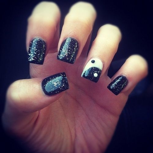 Gel Nails Designs Tumblr Black Nail Design Art Pinterest