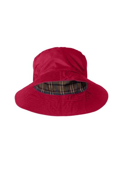 f1d07968cbd Target Dry Spice Red Ladies Storm Rain Hat With a stylish check lining The  Storm Hat for Ladies is a clever addition to your waterproof gear