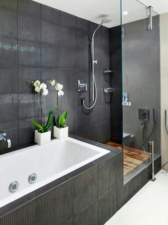 small bathroom looks. I Like How Streamlined This Small Bathroom Looks  The Dark Grey And White Colors Coordinates Seamlessly Is Also A Nice Contemporary Look