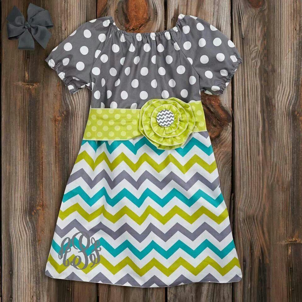 Polk-A-Dots and Chevron Dress