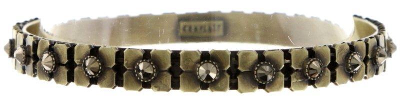 bracelet bangle Rock 'n' Glam brown antique brass