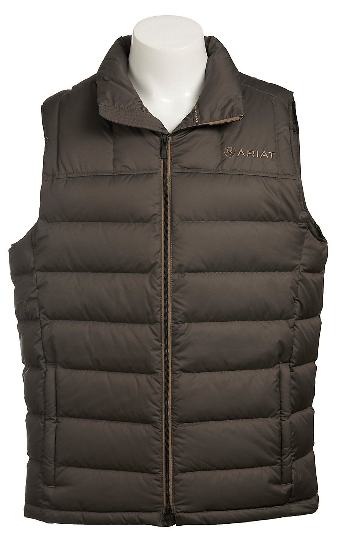 7a350df19ae1a Ariat® Men s Werewolf Grey Bozeman Duck Down Insulated Vest 10011440 ...