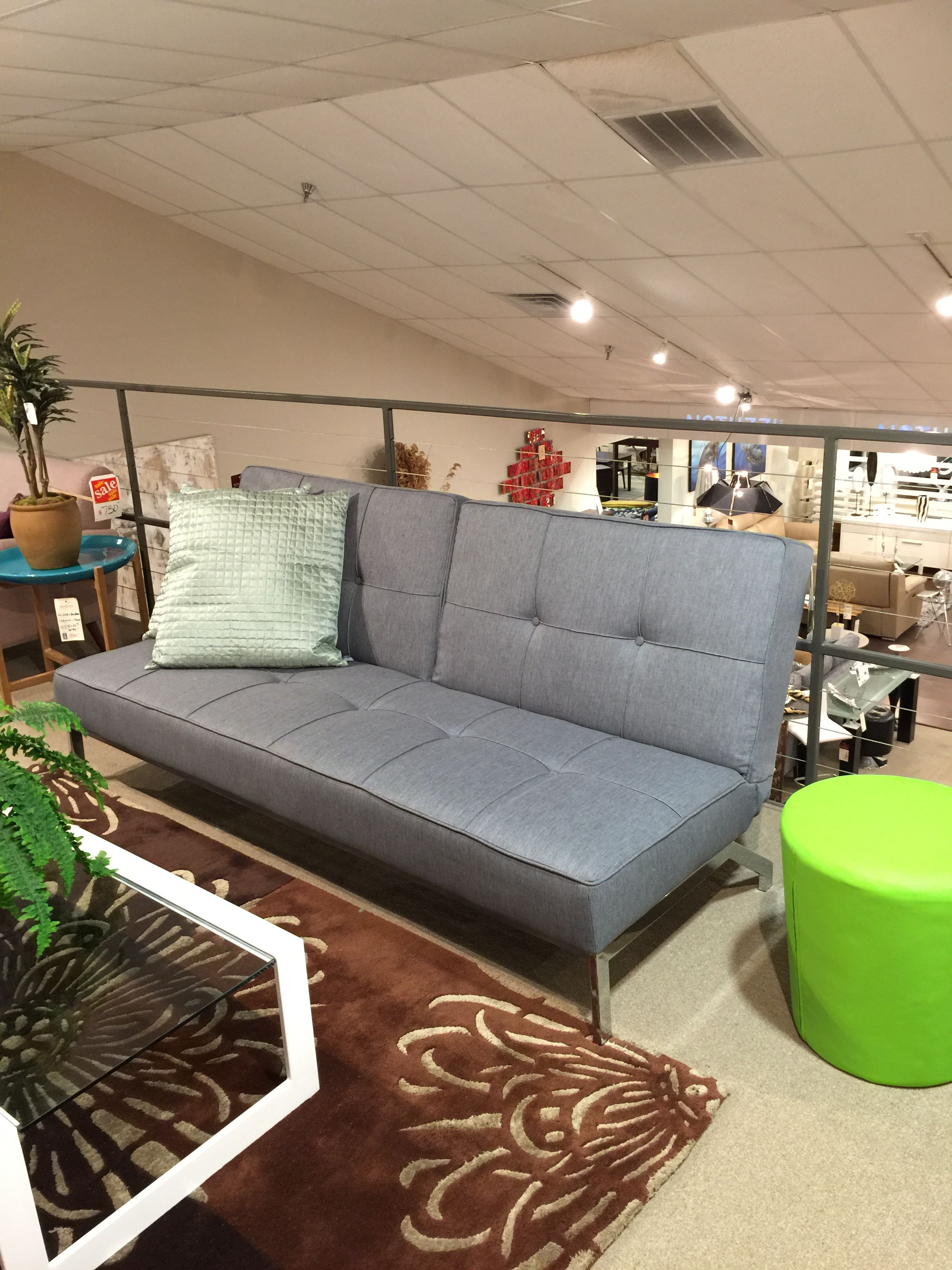 Actona Perugia Futon Grey Fabric Scandinavia Inc Metairie New Orleans Louisiana Contemporary Modern Furniture