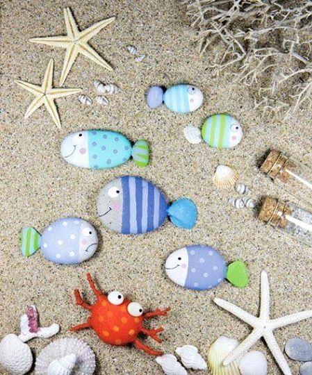 Photo : ☼ ✄ #DIY Bricolage Enfants Eté / DIY Painted Pebbles ✄ ☼ www.creamalice.com