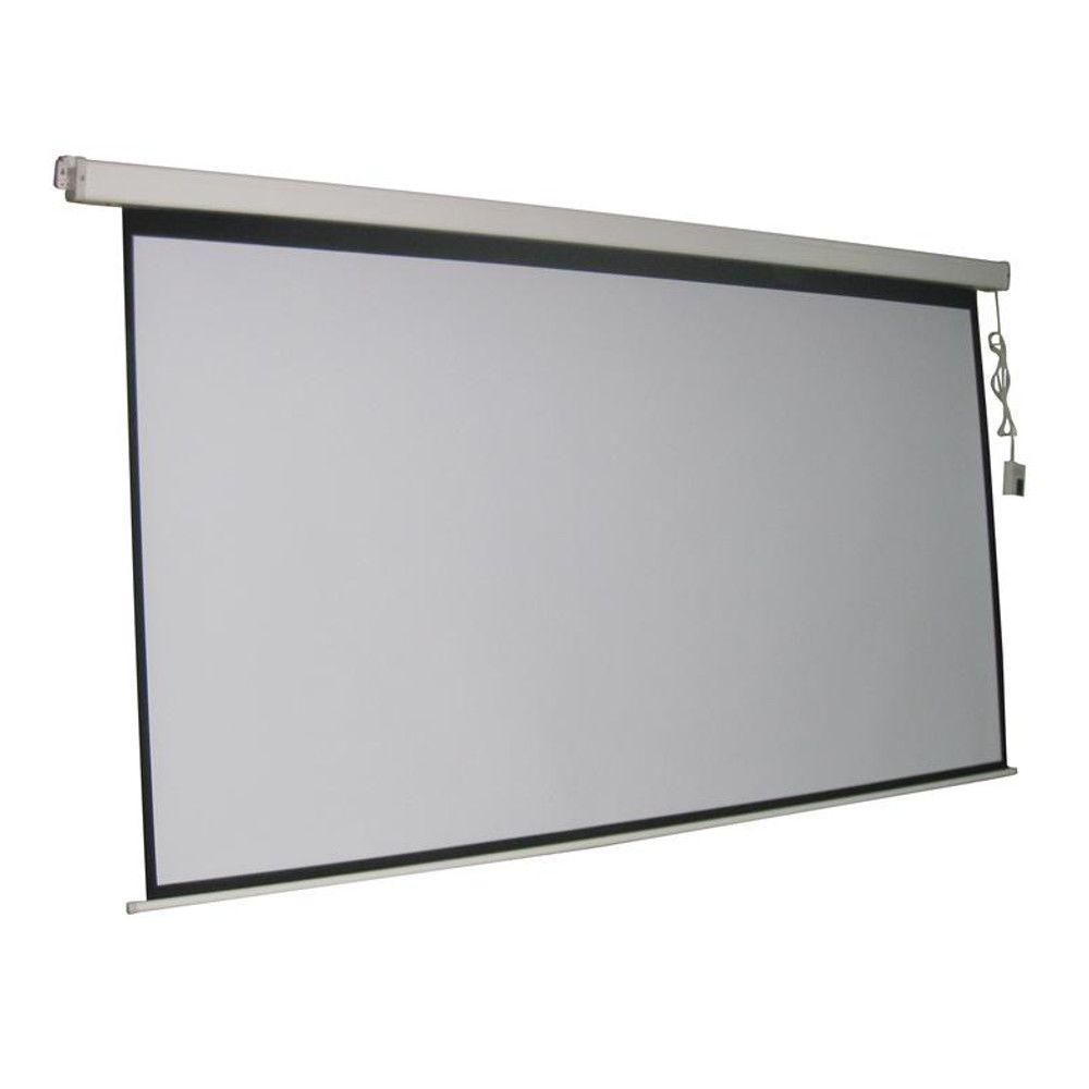 Proht Proht 120 In Electric Projection Screen With White Frame 05356 Projection Screen Home Theater Setup Home Theater