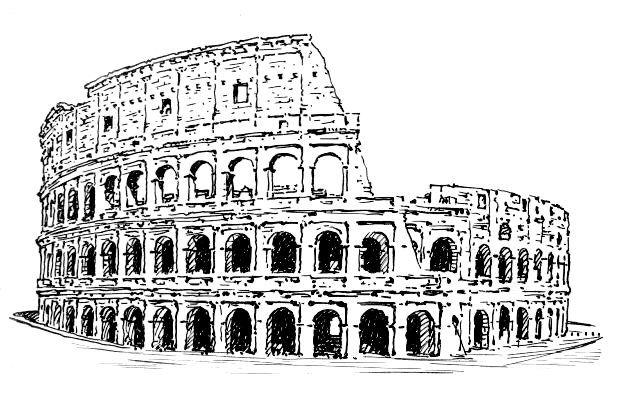cartoons of roman colleseum