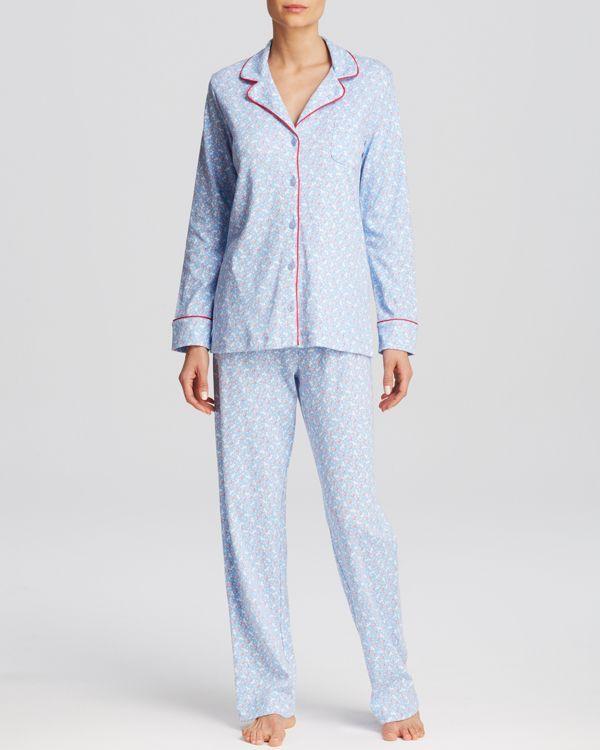 Carole Hochman Falling Floral Long Pajama Set | Sleep Wear Editorial ...