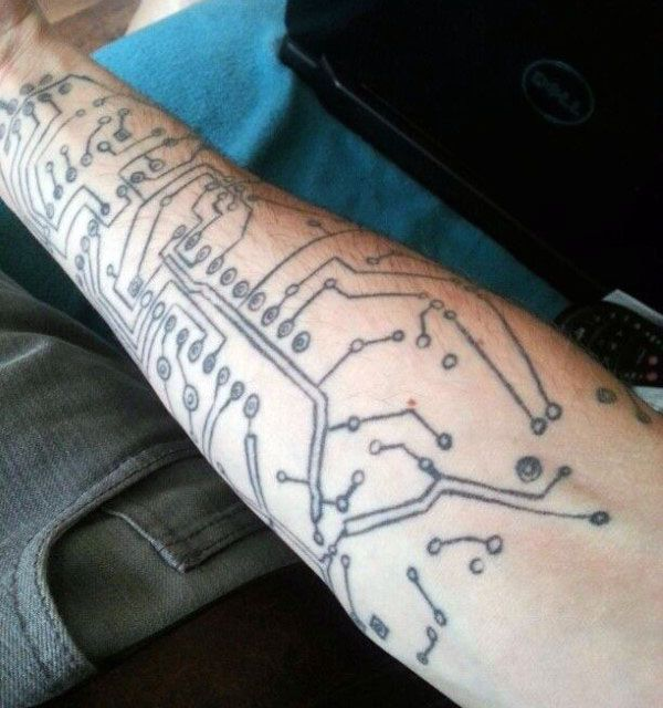 60 Circuit Board Tattoo Designs For Men