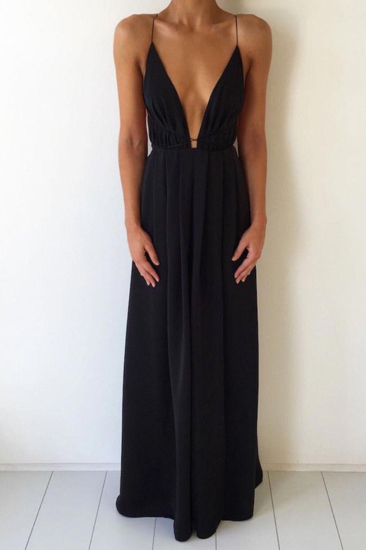 Mermaid V-Neck Sleeveless Backless Black Sequined Prom