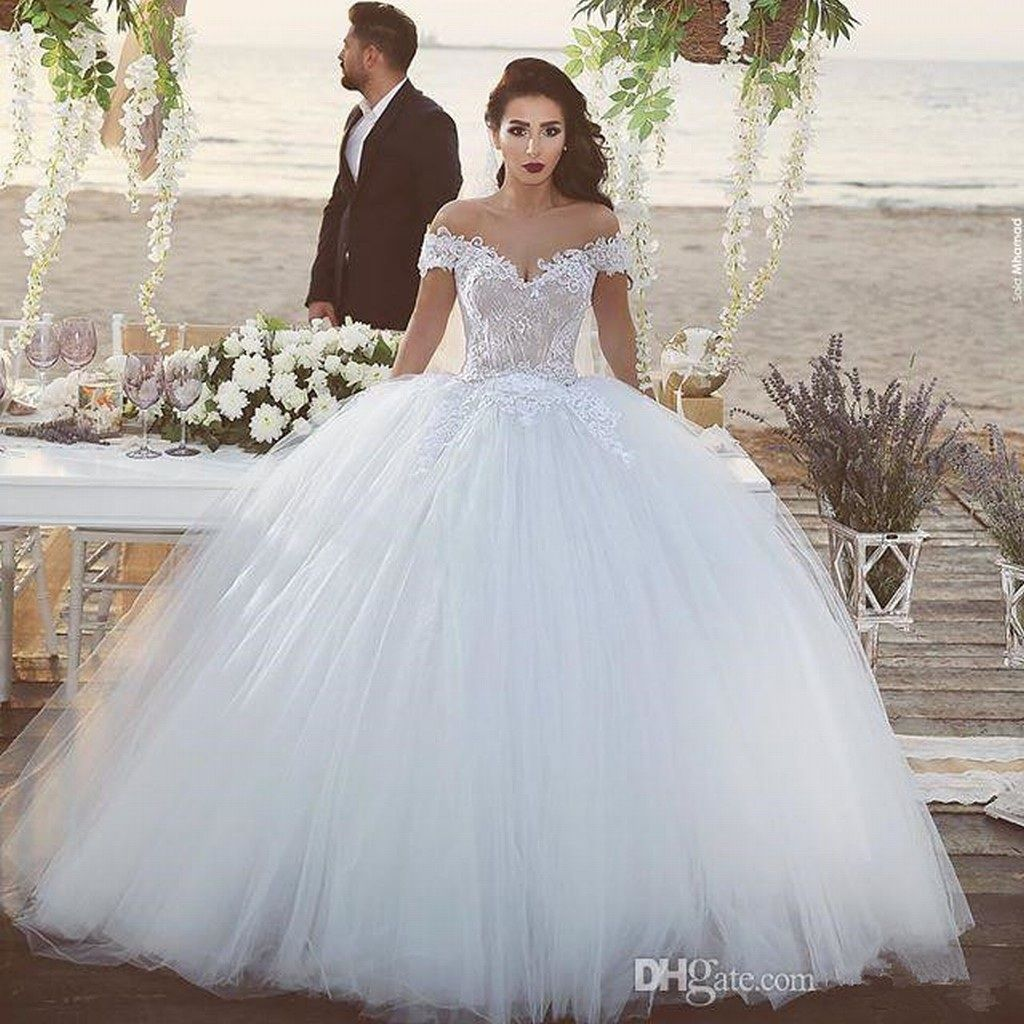 Elegant Off Shoulders Lace Ball Gown Wedding Dresses Sweetheart Appliques Corset Back Formal F Weddi Wedding Dresses Beaded Wedding Gowns Lace Bridal Ball Gown,Ball Gown Wedding Dress Sparkle