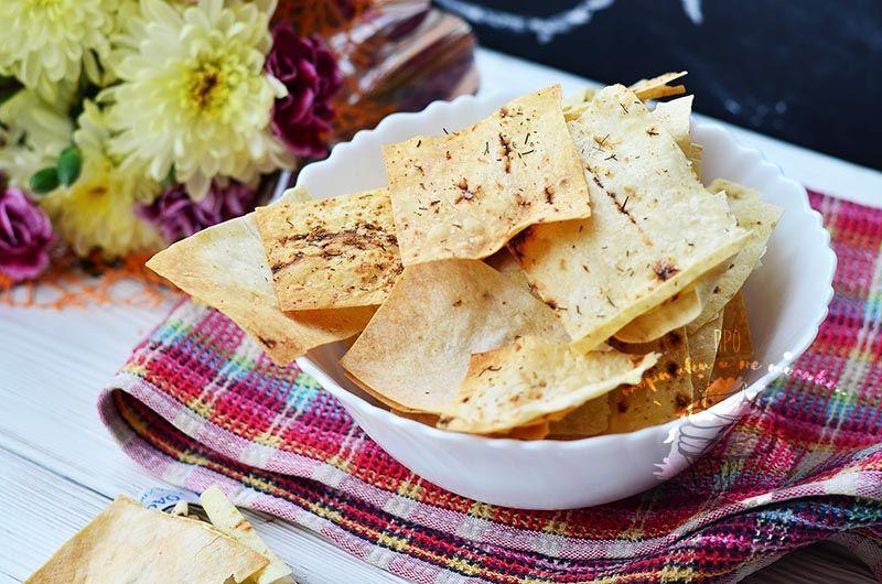 Как приготовить очень вкусные и полезные чипсы из лаваша ...