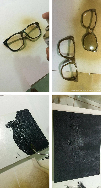 c145edd59b83c DIY - Quadrinho personalizado com armações de óculos antigos - Casinha  Arrumada