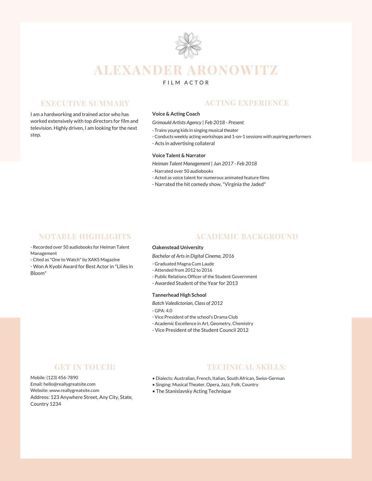 Pastel Peach Simple Minimalist Resume Templates By Canva Ad Simple Paid Pe Minimalist Resume Template Creative Resume Templates Printing Business Cards