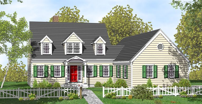 Just Like This Only Real Cape Cod House Plans House Plans For Sale Cottage House Plans
