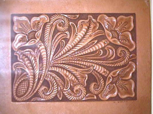 Western leather carving patterns pinterest