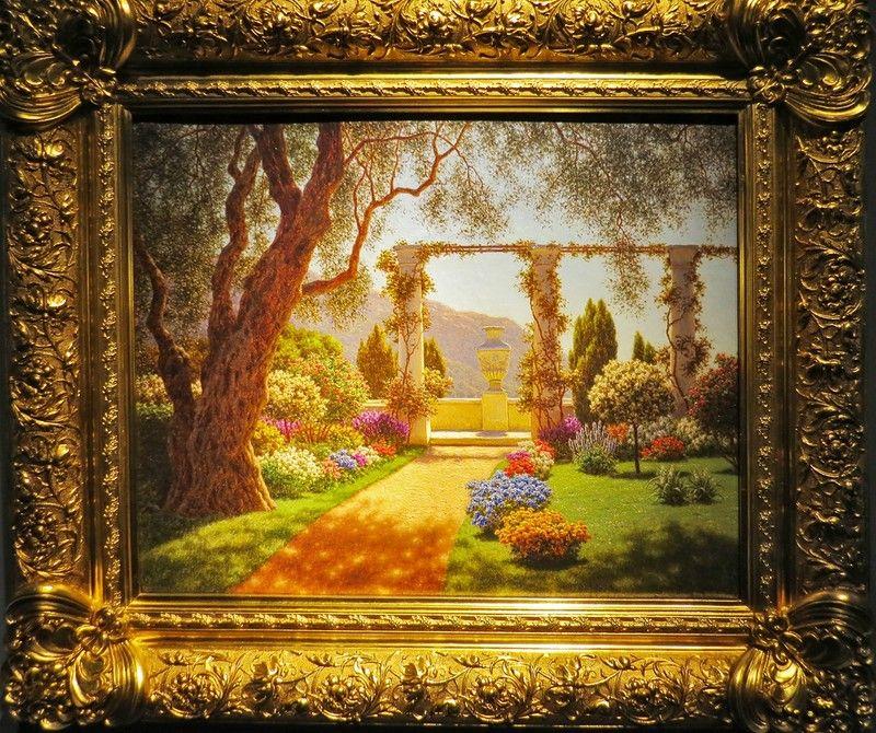 "Ivan Choultse (1874-1939гг.) ""Mediterranian Garden"" 1920"