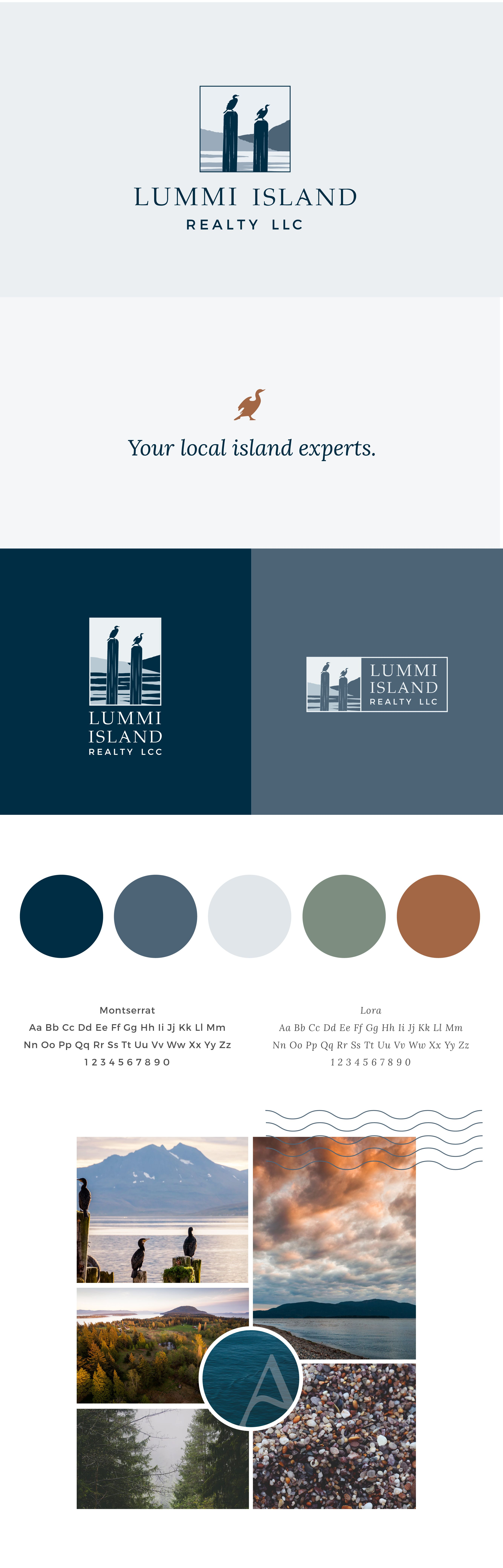 Full Rebrand Of Lummi Island Realty In Washington State Pacific Northwest Design Inspired By C Fashion Logo Design Inspiration Fashion Logo Design Logo Design