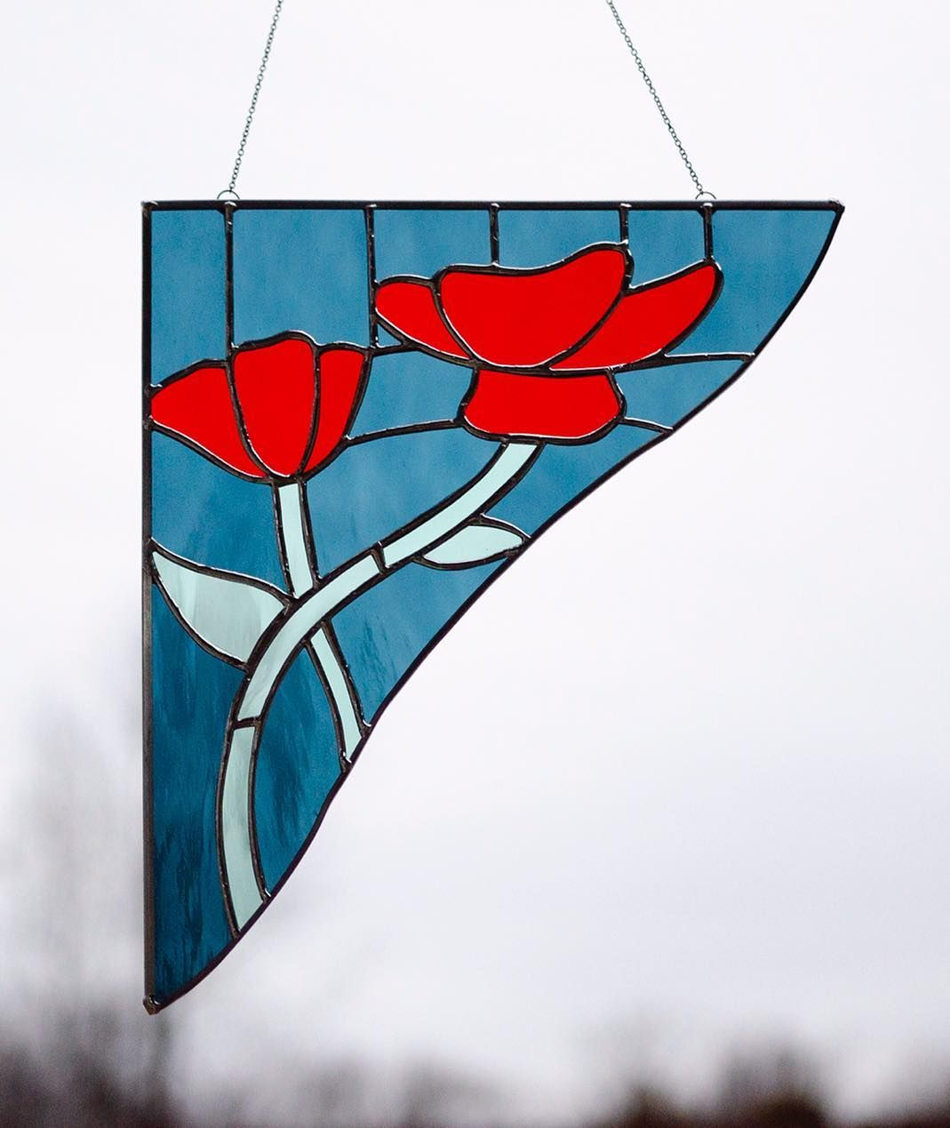 Art Nouveau Inspired California Poppy By Mason Larose: Art Nouveau Inspired Poppies