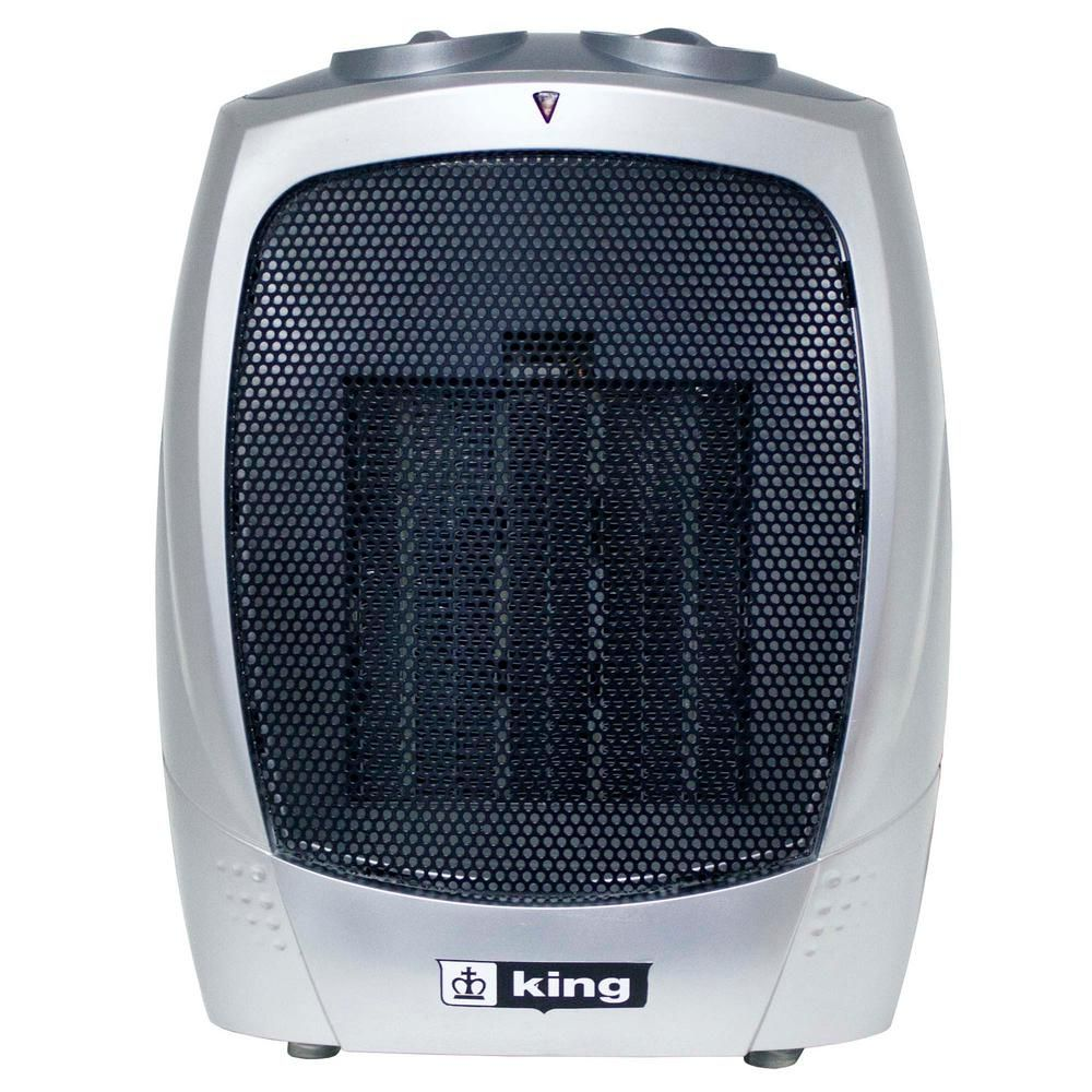 King 120 Volt Portable Electric Ceramic Heater In Gray Portable Electric Heaters Portable Heater Shop Heater
