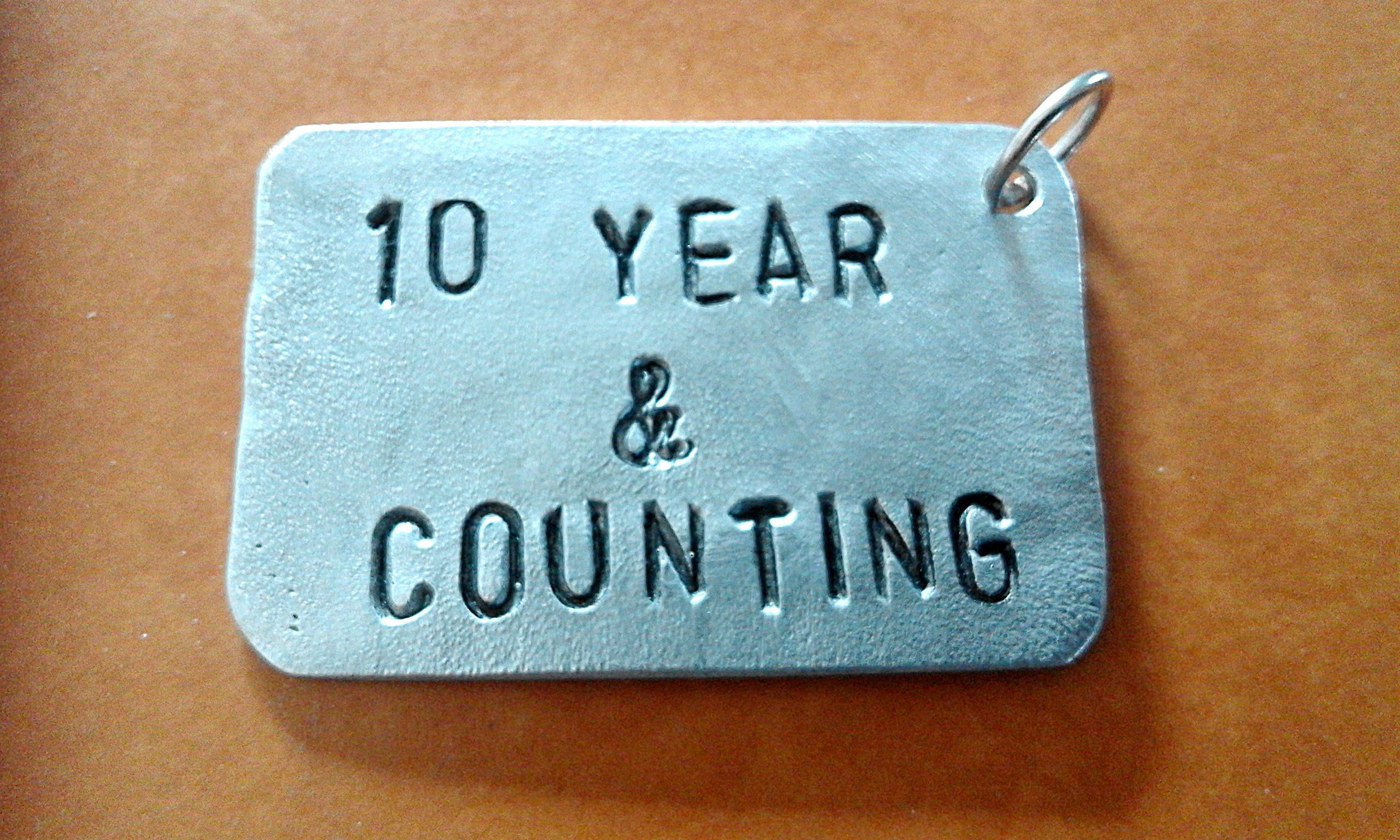 Year wedding anniversary keyring valentine gift aluminium th
