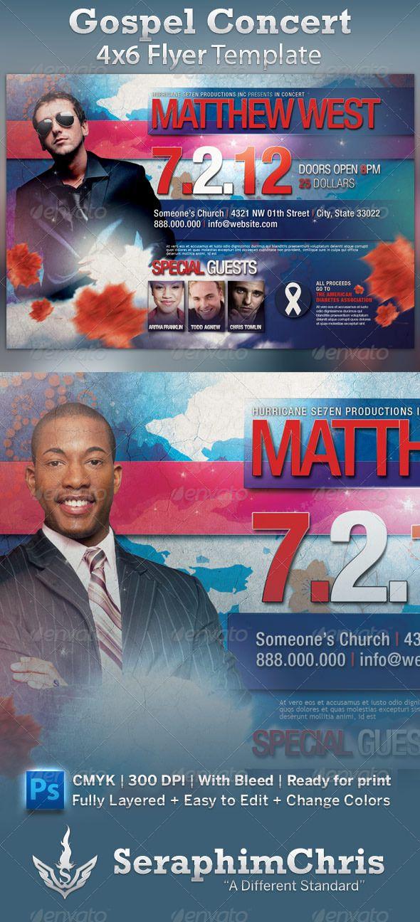 Gospel Concert Flyer Template Gospel Concert Concert Flyer And