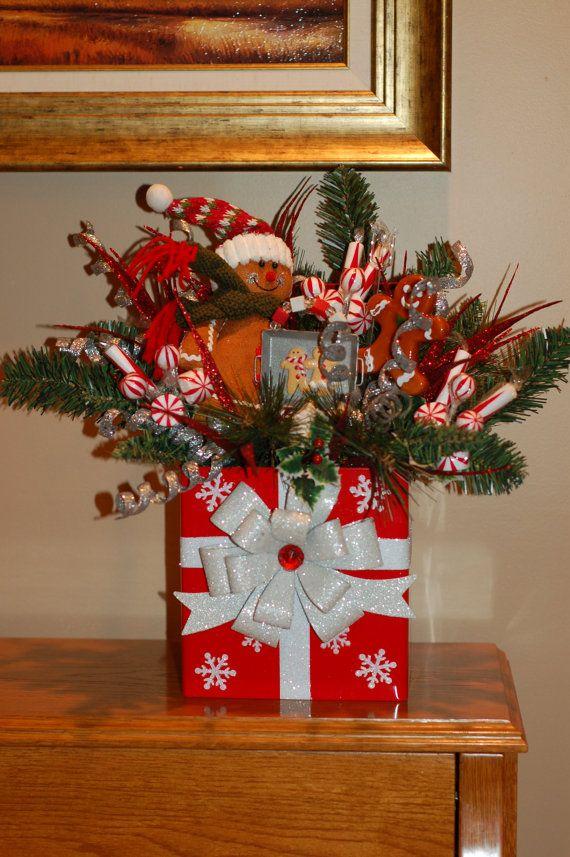 Gingerbread Christmas Arrangement