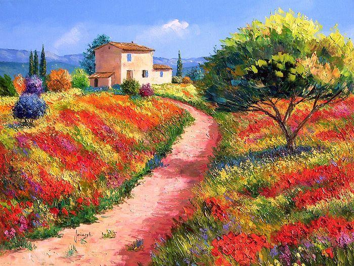 """Provencal Bastide"" by Jean Marc Janiaczyk. Tuscany Painting. Landscape."