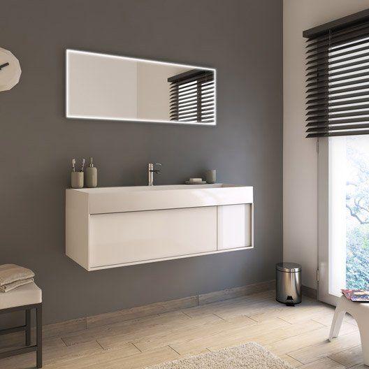 Meuble de salle de bains plus de 120, blanc / beige / naturels, Neo