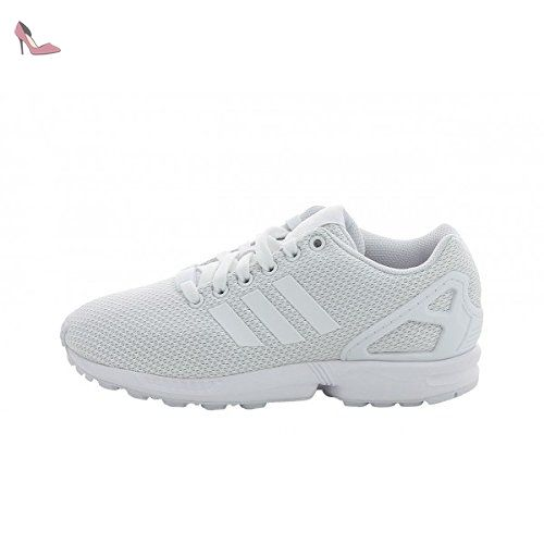 Adidas Originals Zx Flux blanc / blanc / blanc synthétique ...